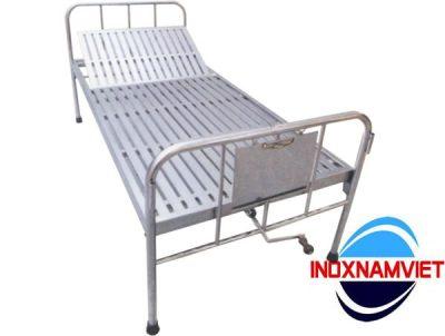 Giường y tế inox 1 tay quay