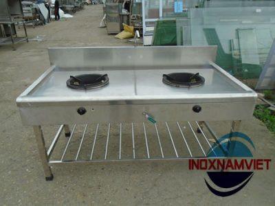 Bếp công nghiệp inox 2 họng lò