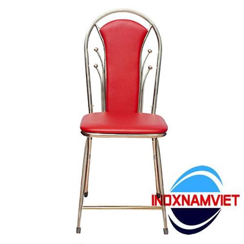Ghế inox bọc nệm đỏ