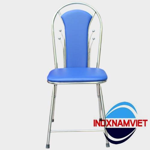 Ghế inox bọc nệm xanh