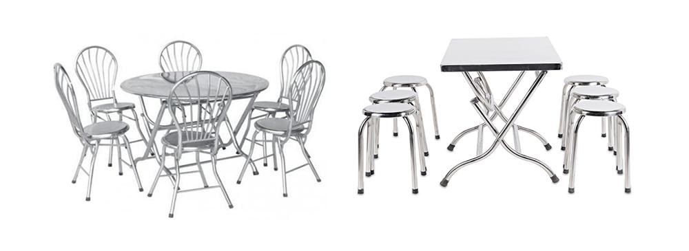 Baner bàn ghế inox