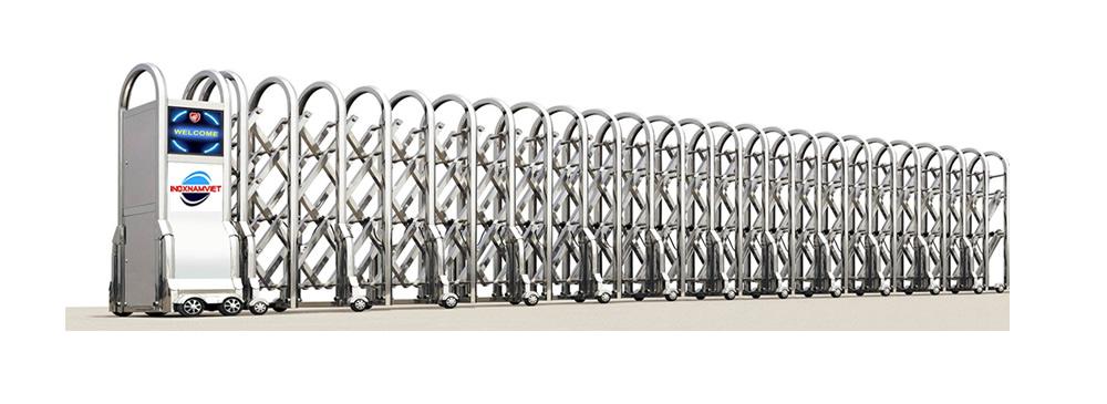 Baner cổng xếp inox