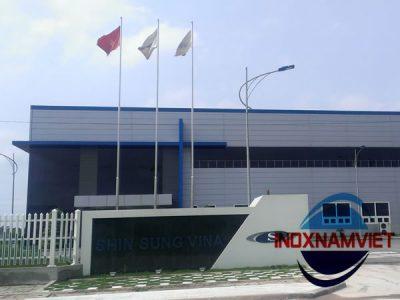 Cột cờ inox KCN Song Khê, Bắc Giang