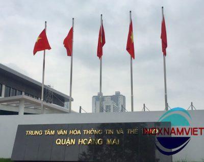Cột cờ inox Hoàng Mai, Hà Nội