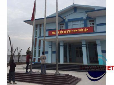 Cột cờ inox Vĩnh Tường Vĩnh Phúc