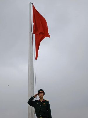 Cột cờ inox Viettel Hòa Lạc