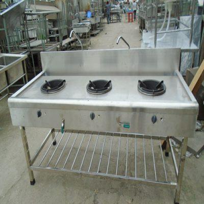 Bếp công nghiệp inox 3 họng lò