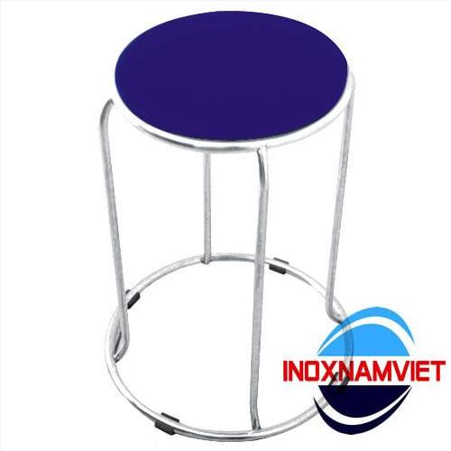 Ghế inox tròn bọc nệm