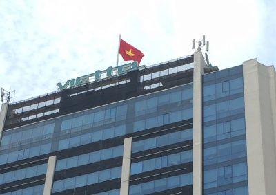 Cột cờ inox Trụ sở Viettel